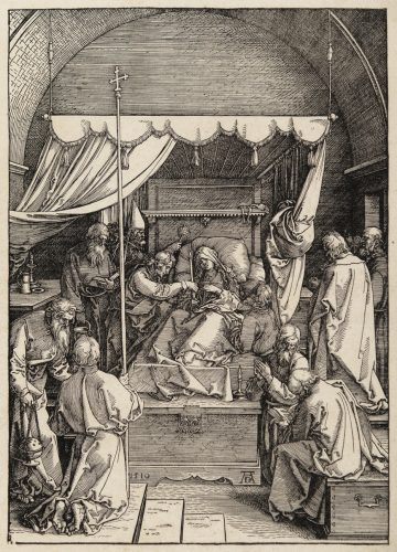 The Death of the Virgin by Albrecht Durer at Christopher-Clark Fine Art