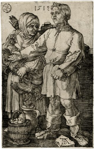 The Peasant and His Wife at Market by Albrecht Durer at Christopher-Clark Fine Art