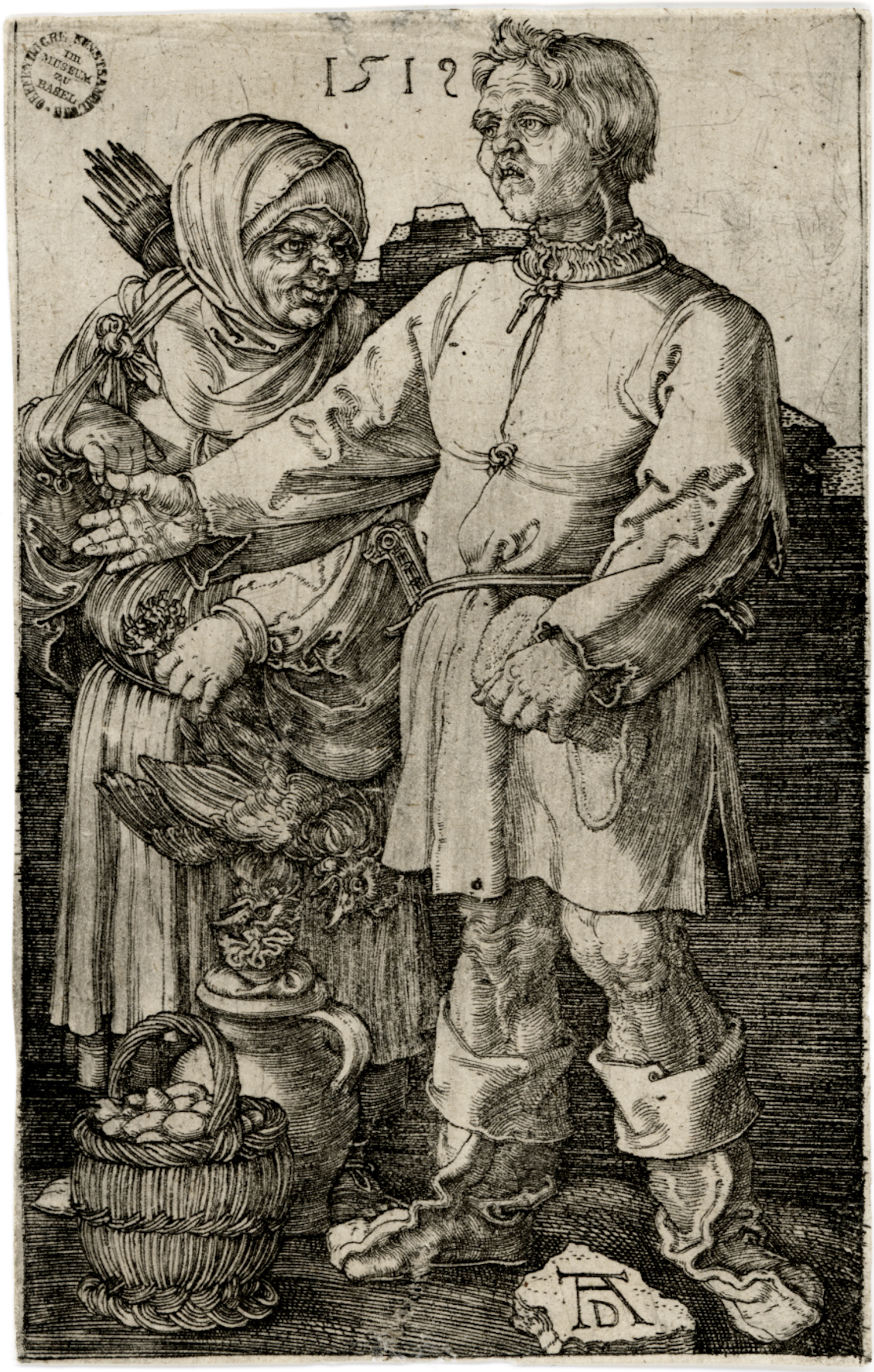 The Peasant and His Wife at Market by Albrecht Durer