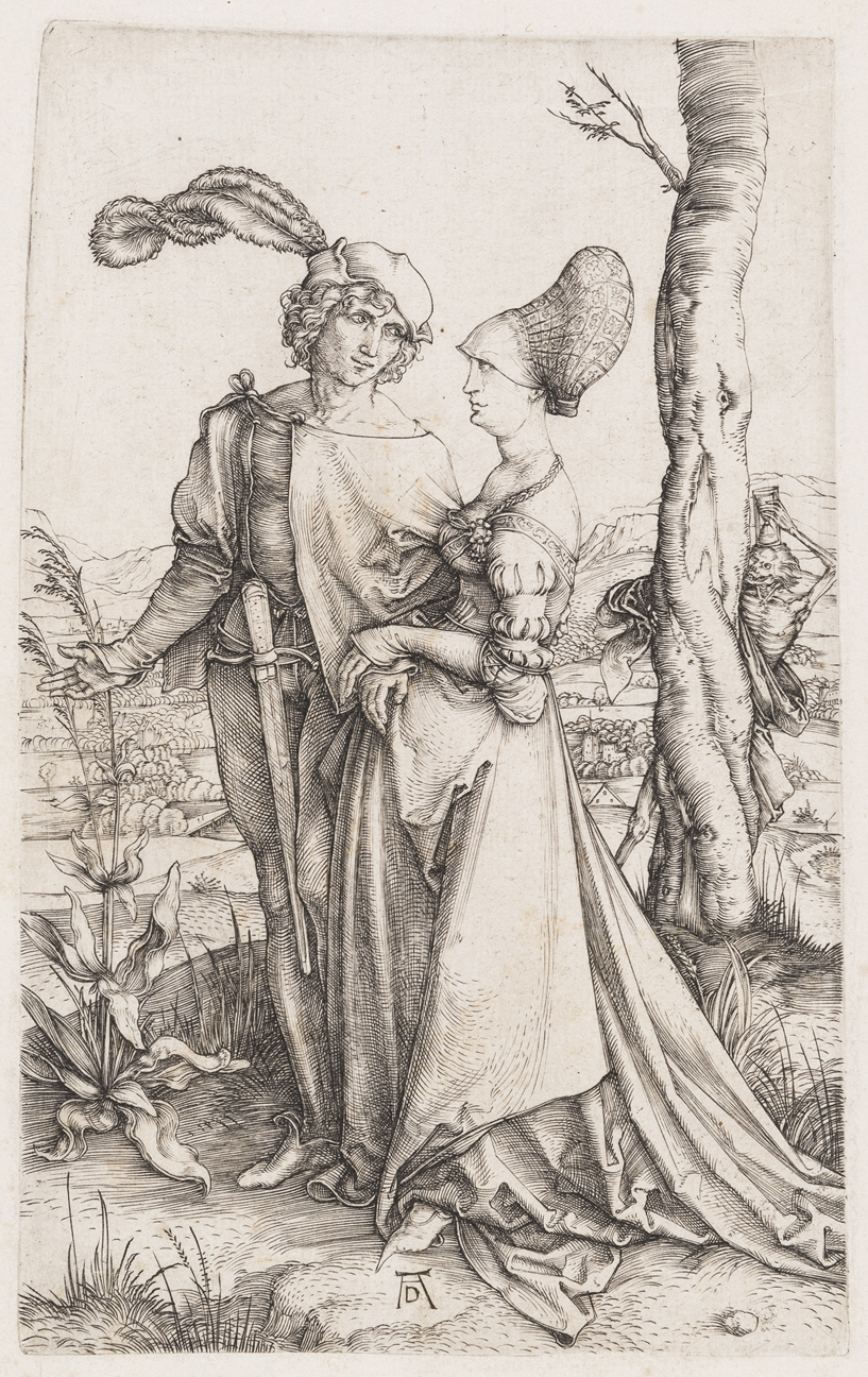 Young Couple Threatened by Death (The Promenade) by Albrecht Durer