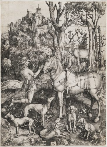 Saint Eustace by Albrecht Durer at Christopher-Clark Fine Art