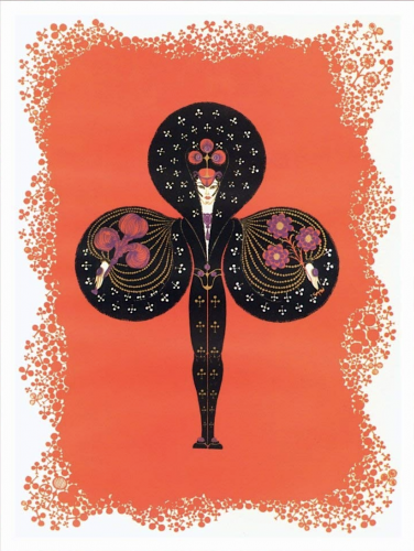 Ace of Clubs by Erte at