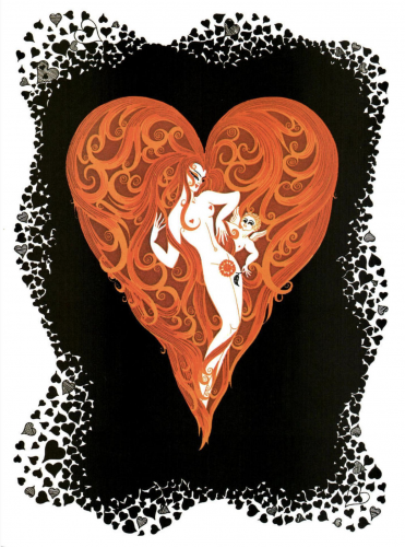 Ace of Hearts by Erte at