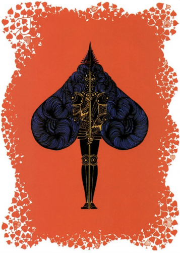 Ace of Spades by Erte at