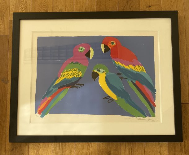 Three Parrots by Walasse Ting at