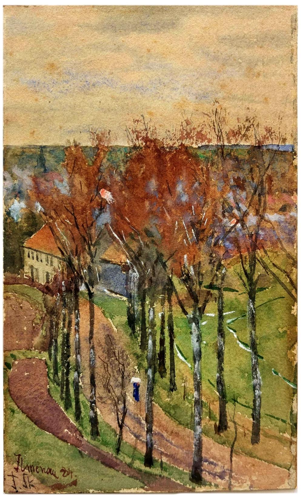 Landschaft bei Ilmenau by Franz Skarbina
