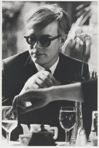 Andy Warhol (at table) by Dennis Hopper