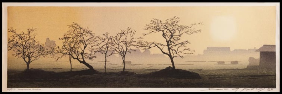 Persimmon Sunrise by Daniel Kelly at Hanga Ten - Contemporary Japanese Prints