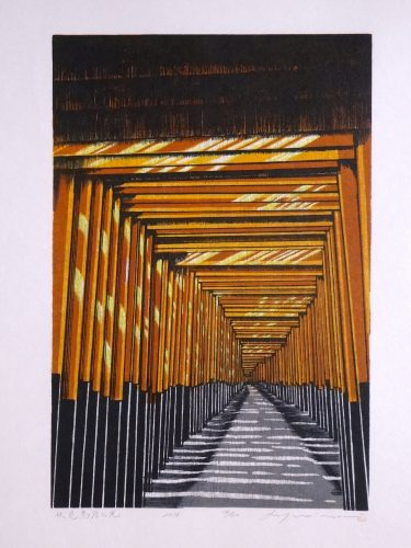 The Light Shines on Fushimi Torii by Ray Morimura