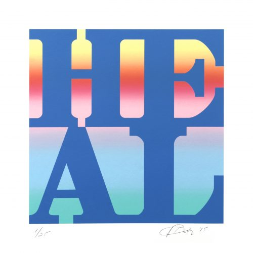 Heal (Positive Blend) by Robert Indiana at