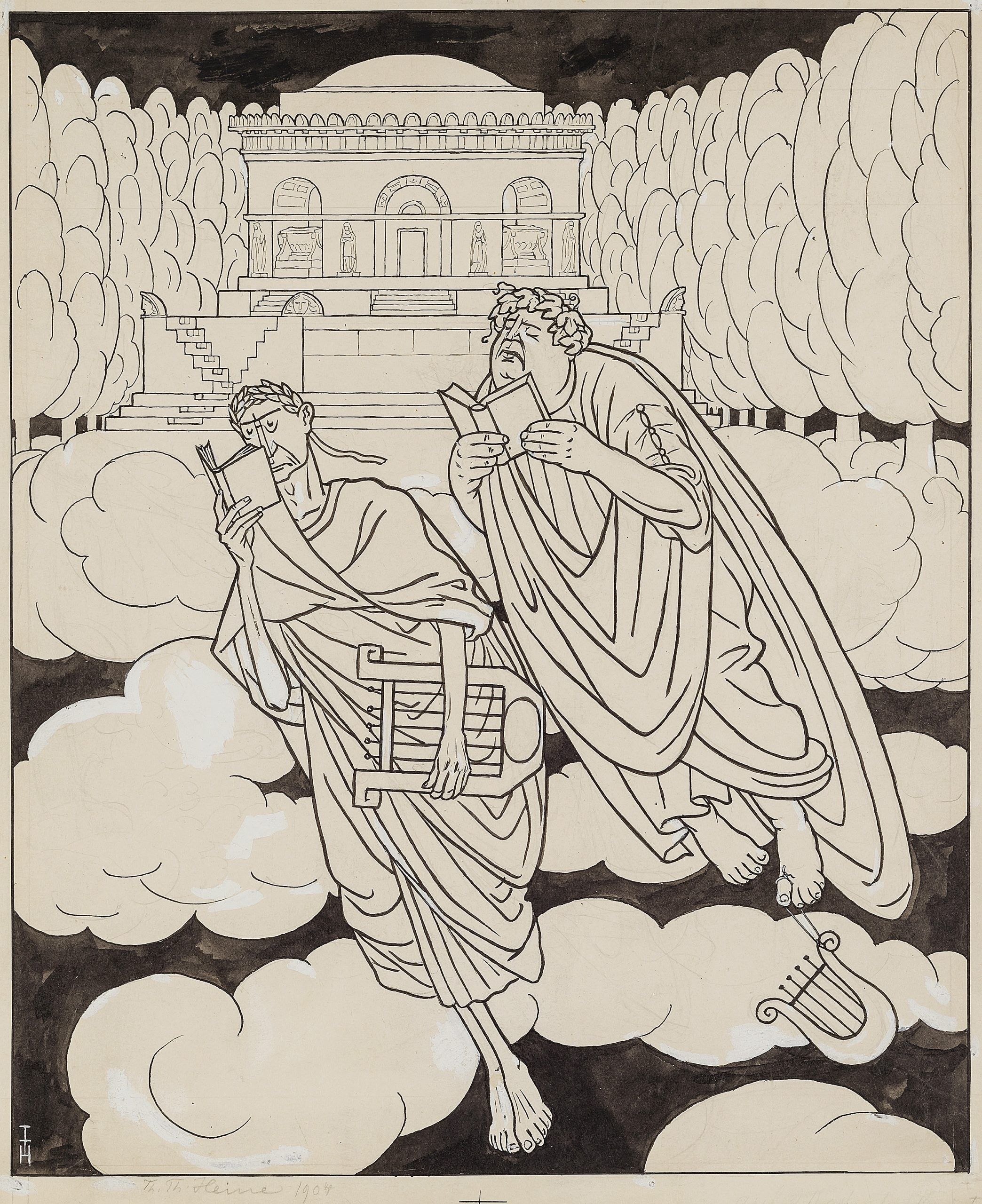 In the Afterworld by Thomas Theodor Heine