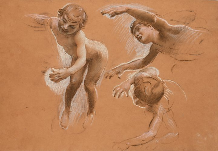 Sheet with Studies of Children by Adolf Hiremy-Hirschl