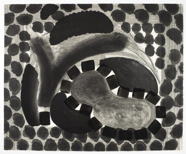 David's Pool at Night (David = David Hockney) by Howard Hodgkin at Howard Hodgkin