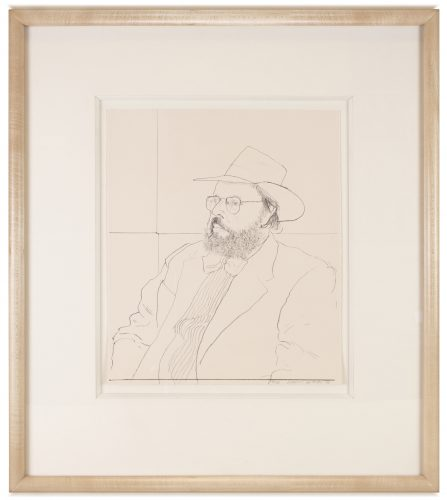 Henry Geldzahler with Hat by David Hockney