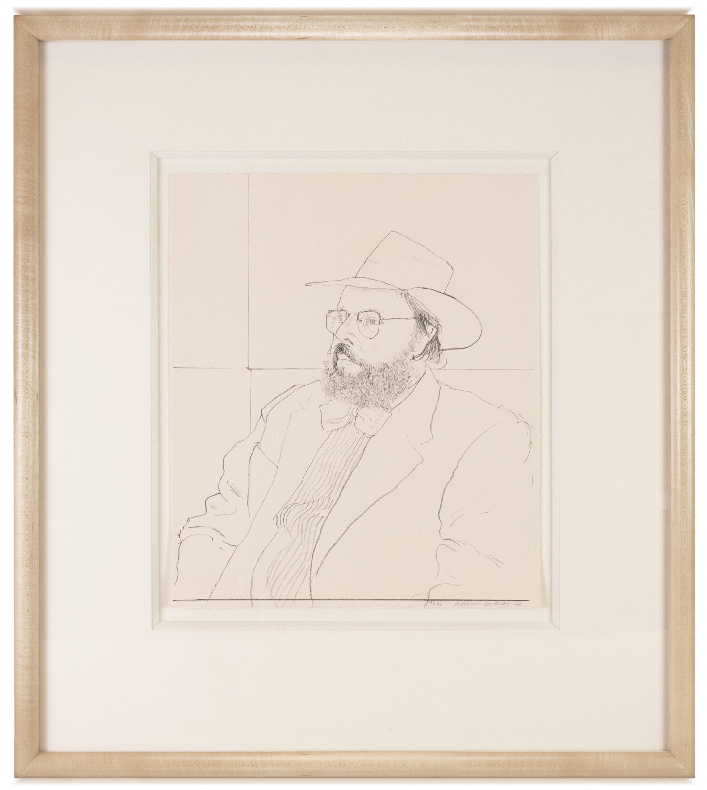 Henry Geldzahler with Hat by David Hockney