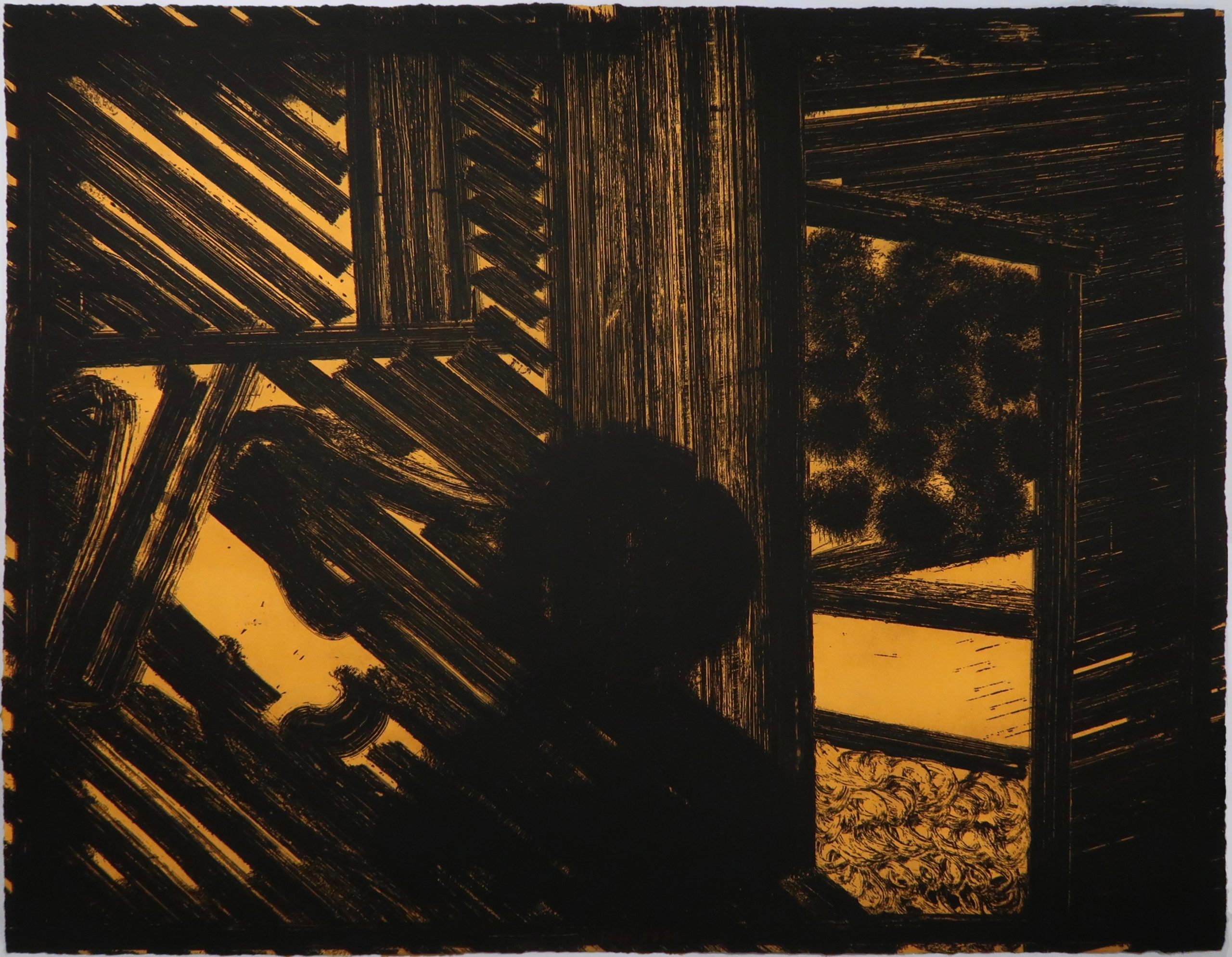 Artist and Model (yellow) by Howard Hodgkin