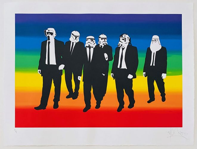 Rainbow Troopers by RYCA at Robert Fontaine Gallery
