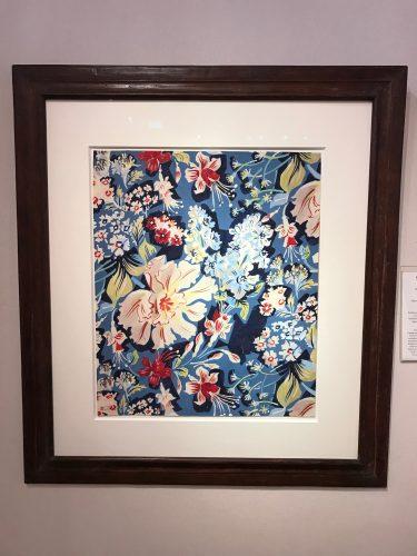 Fleurs de printemps, tulipe perroquet, oeuillets, paquerettes sur fond bleu by Raoul Dufy at