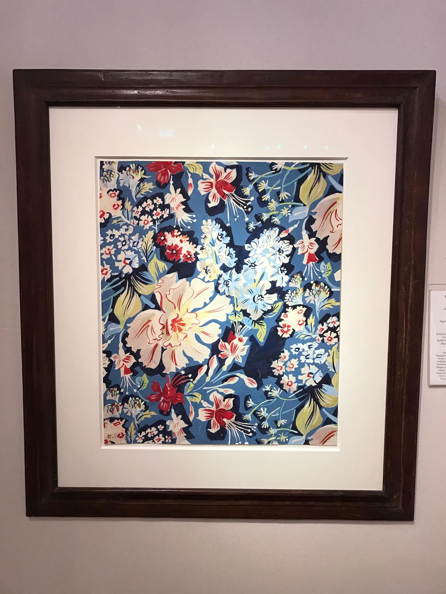Fleurs de printemps, tulipe perroquet, oeuillets, paquerettes sur fond bleu by Raoul Dufy