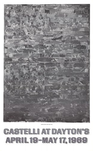 Castelli at Dayton's (Two Flags 1959) by Jasper Johns