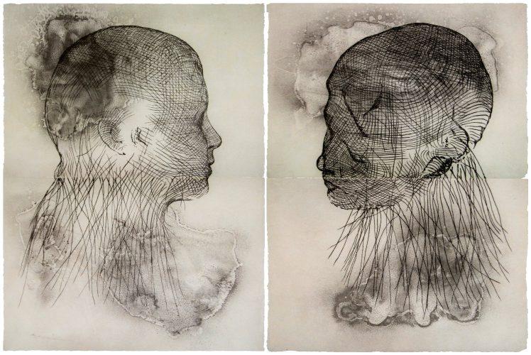 Untitled, set of 2 by Jaume Plensa