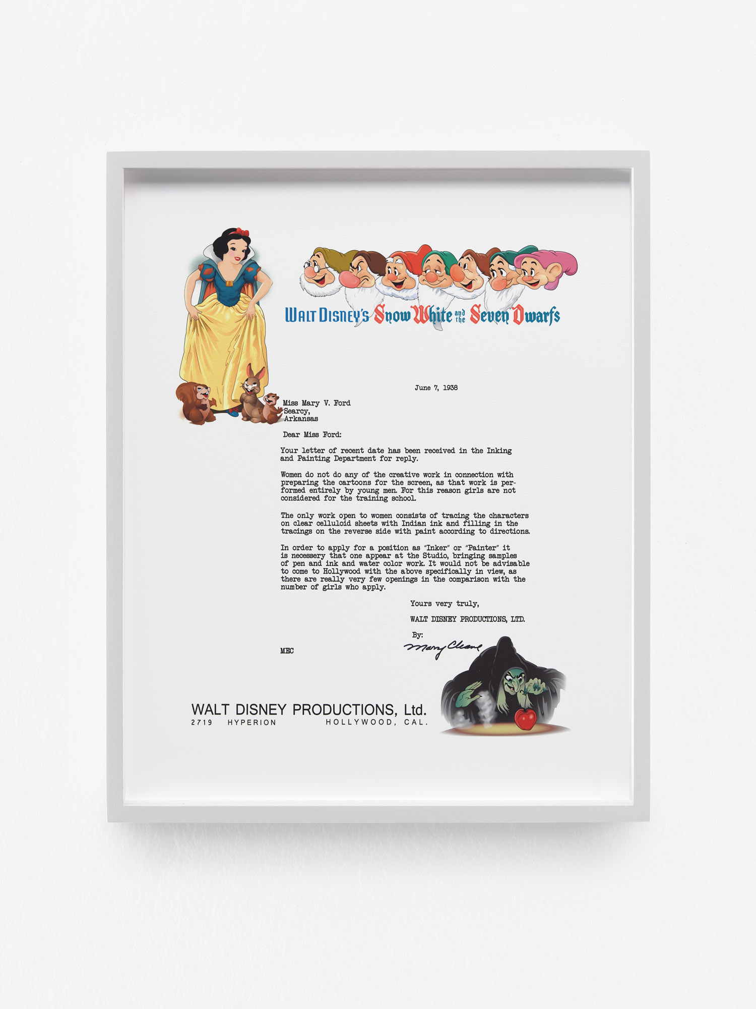 Disney Letter (Remastered), 2020 by Aleksandra Domanović
