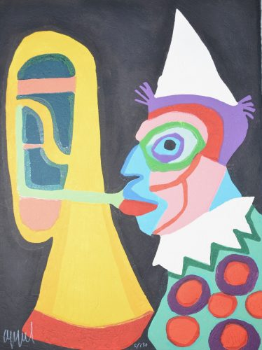 Amsterdam clown by Karel Appel