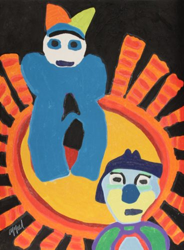 Sun of the incas by Karel Appel at