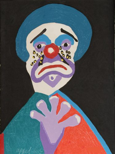 The clown with the golden tears by Karel Appel at