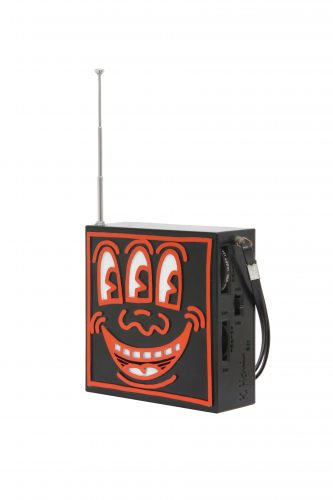 Pop Shop AM / FM Plastic Radio (Red and Black) by Keith Haring at Keith Haring