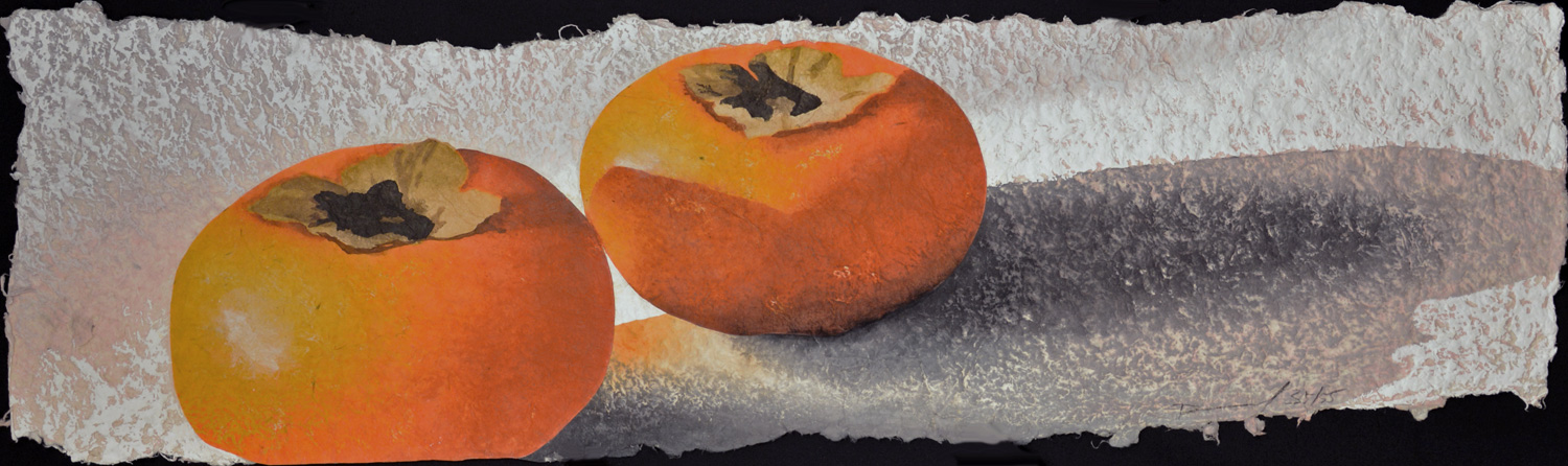 Three Persimmons by Daniel Kelly at Hanga Ten - Contemporary Japanese Prints