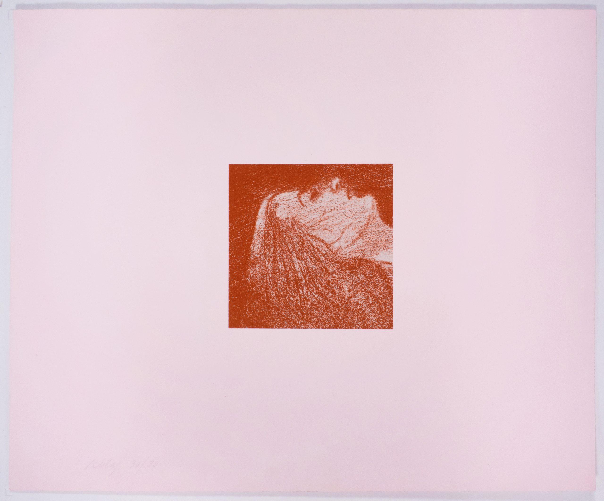 Orgasm (Sleeping Head) by R.B. Kitaj