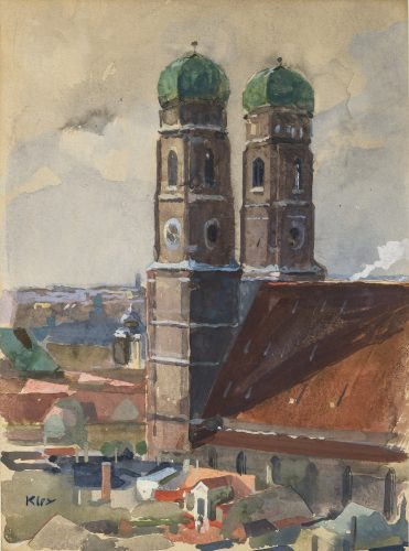 The Towers of the Munich Frauenkirche by Heinrich Kley