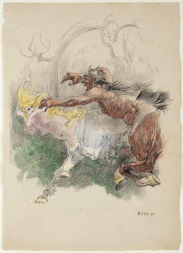 Centaur hunting by Heinrich Kley