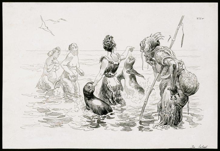 At a Seaside Resort by Heinrich Kley