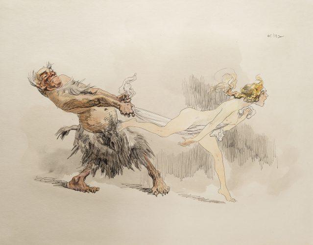 Caught by Heinrich Kley