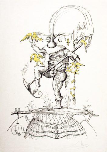 """""""Les Songes Drôlatiques de Pantagruel"""" (Plancha 73-7-t) by Salvador Dali"""