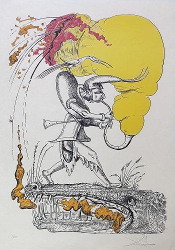 """""""Les Songes Drôlatiques de Pantagruel"""" (Plancha 73-7-V) by Salvador Dali"""