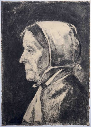 Alte Frau (Belgierin) by Lesser Ury at