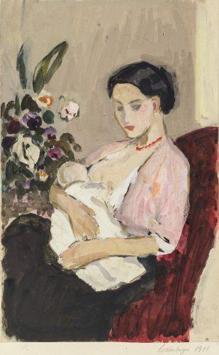 Mother with Child by Hans Reinhold Lichtenberger