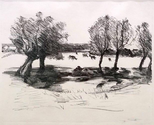 Weite Landschaft mit Kühen by Lovis Corinth at Lovis Corinth
