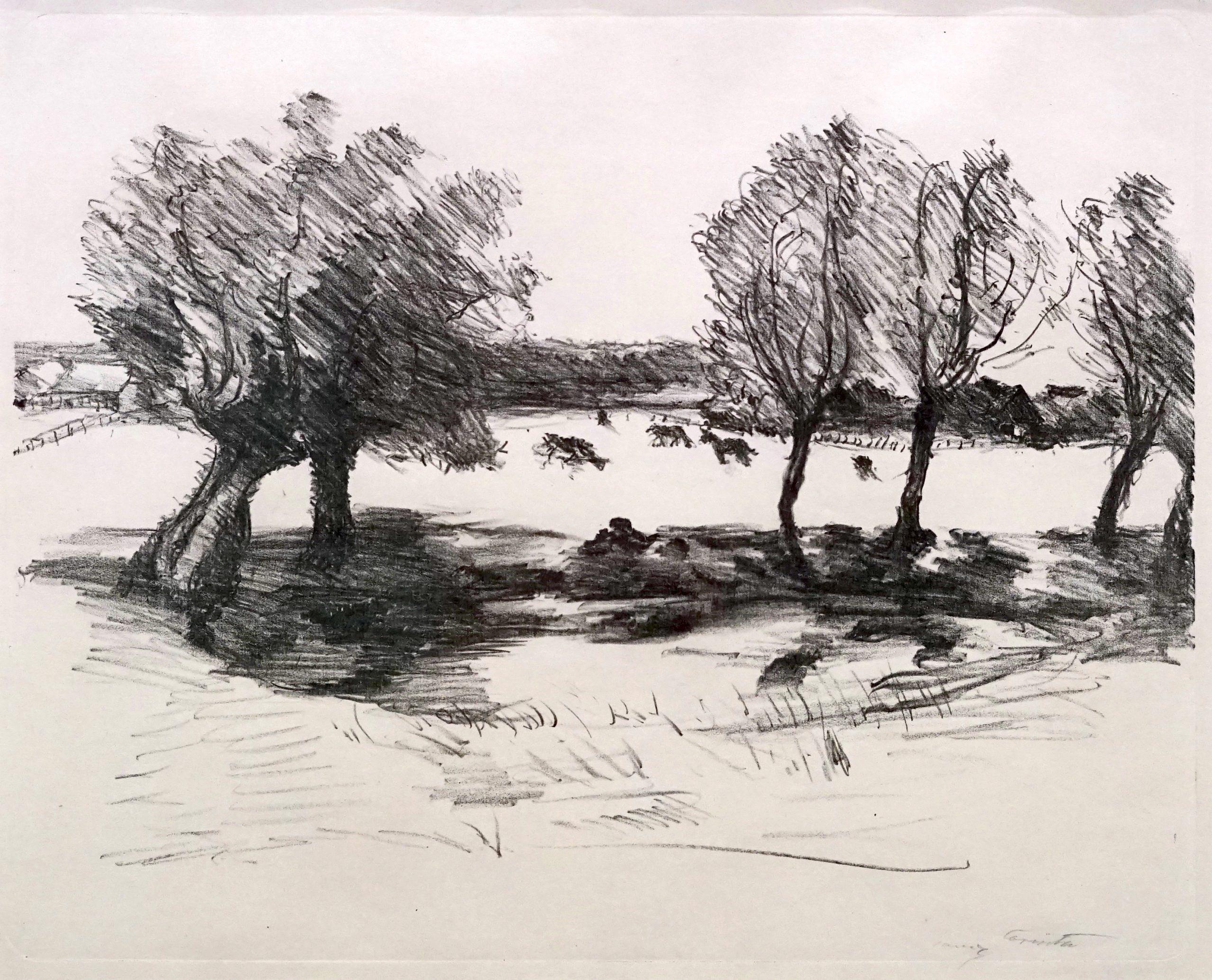 Weite Landschaft mit Kühen by Lovis Corinth