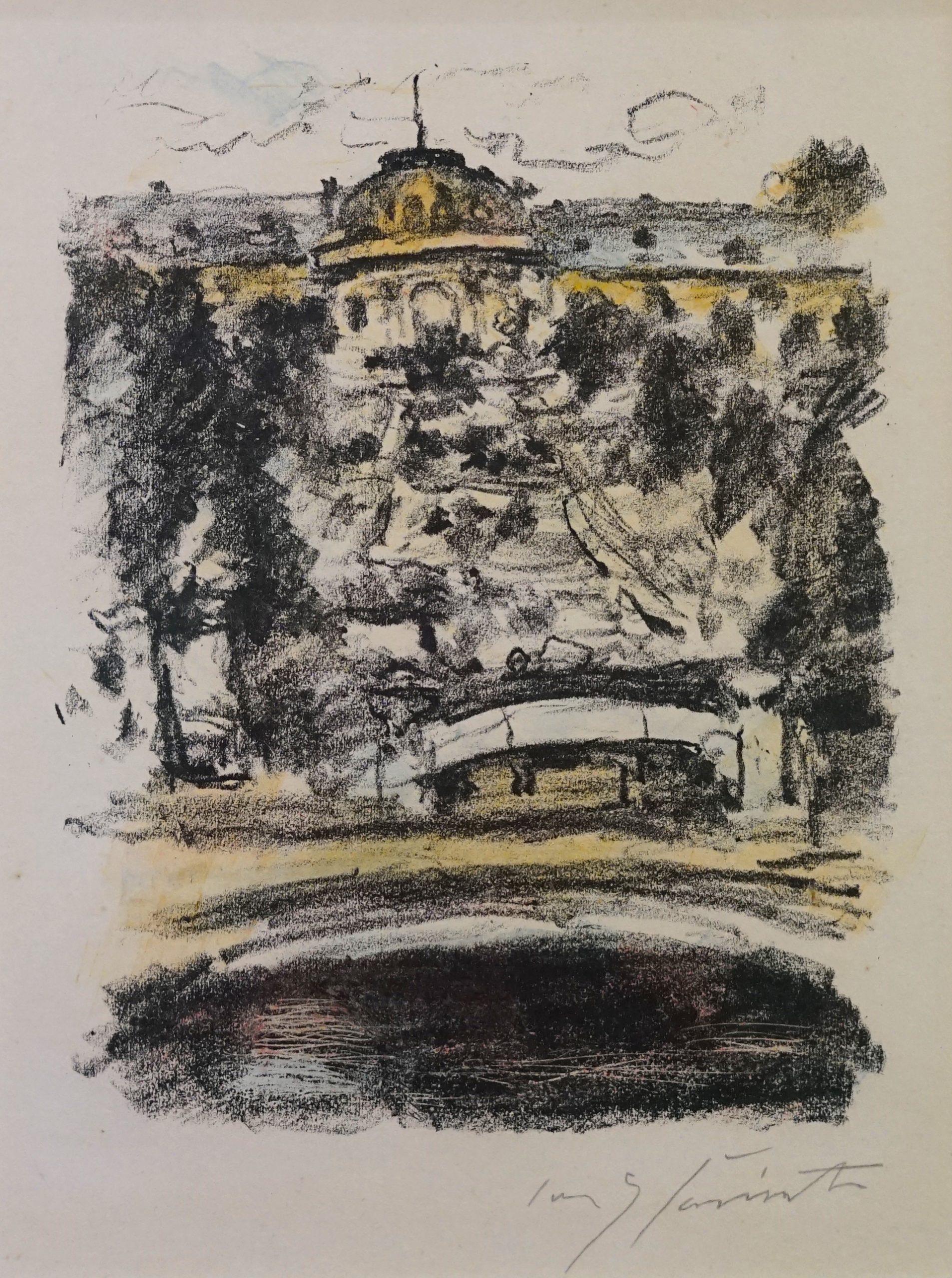 Sanssouci – aus Fridericus Rex, 2. Mappe, König Friedrich und sein Kreis by Lovis Corinth