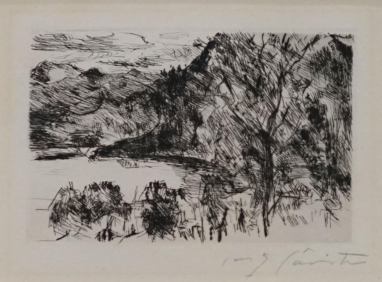 Walchensee mit Jochberg by Lovis Corinth