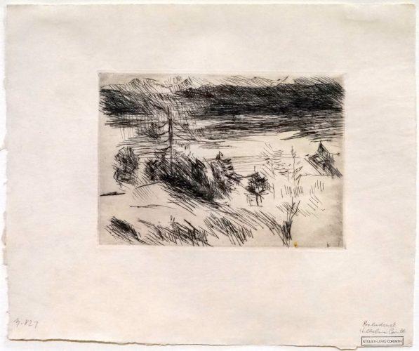 Walchensee mit Lärche by Lovis Corinth at Lovis Corinth