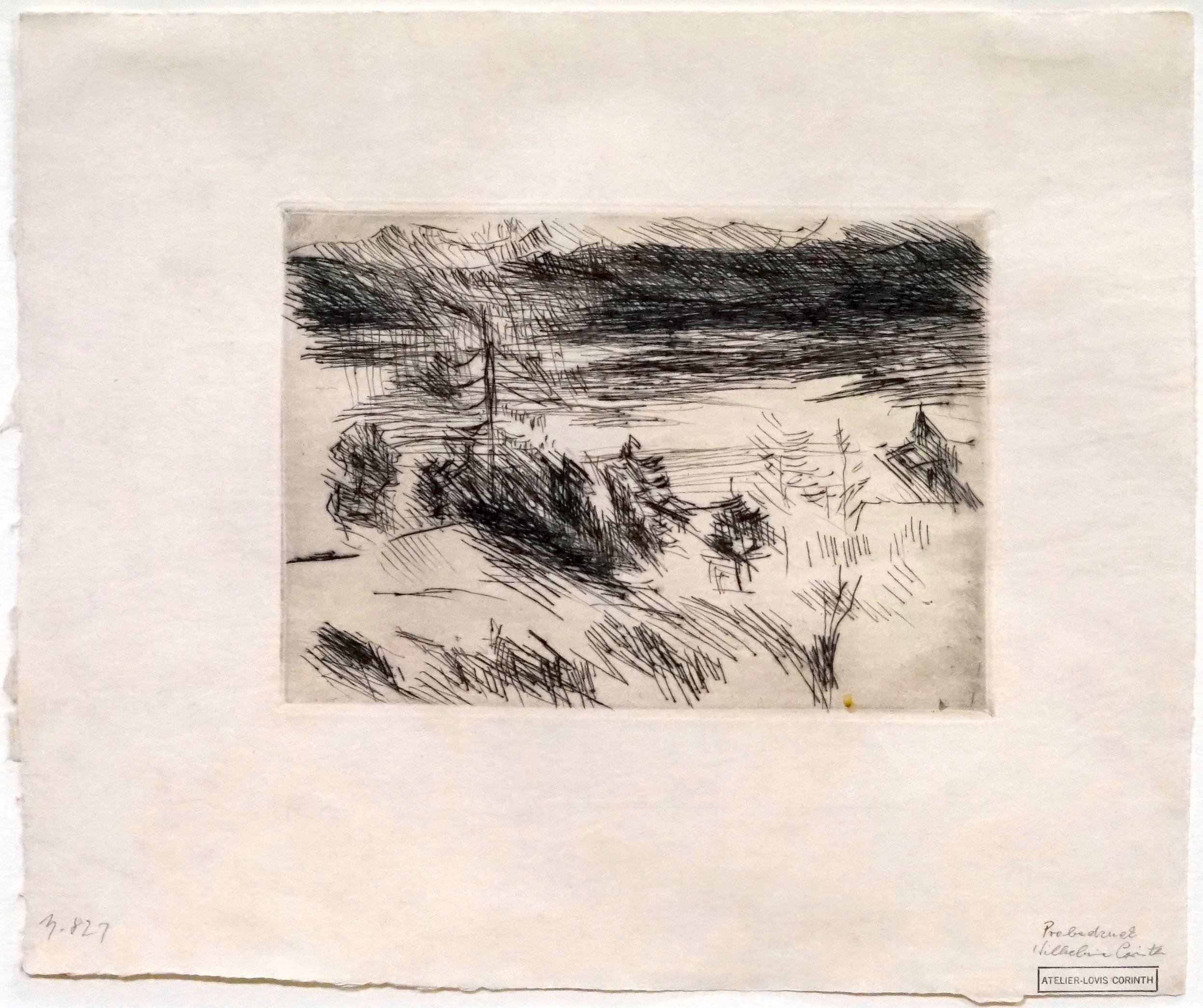 Walchensee mit Lärche by Lovis Corinth