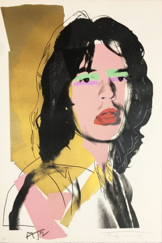 Mick Jagger II.143 by Andy Warhol