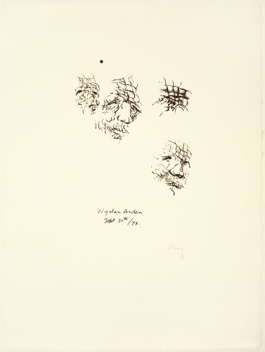 Sketches of Auden by Henry Moore