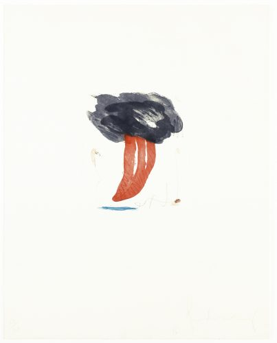 Study for Tongue Cloud by Claes Oldenburg
