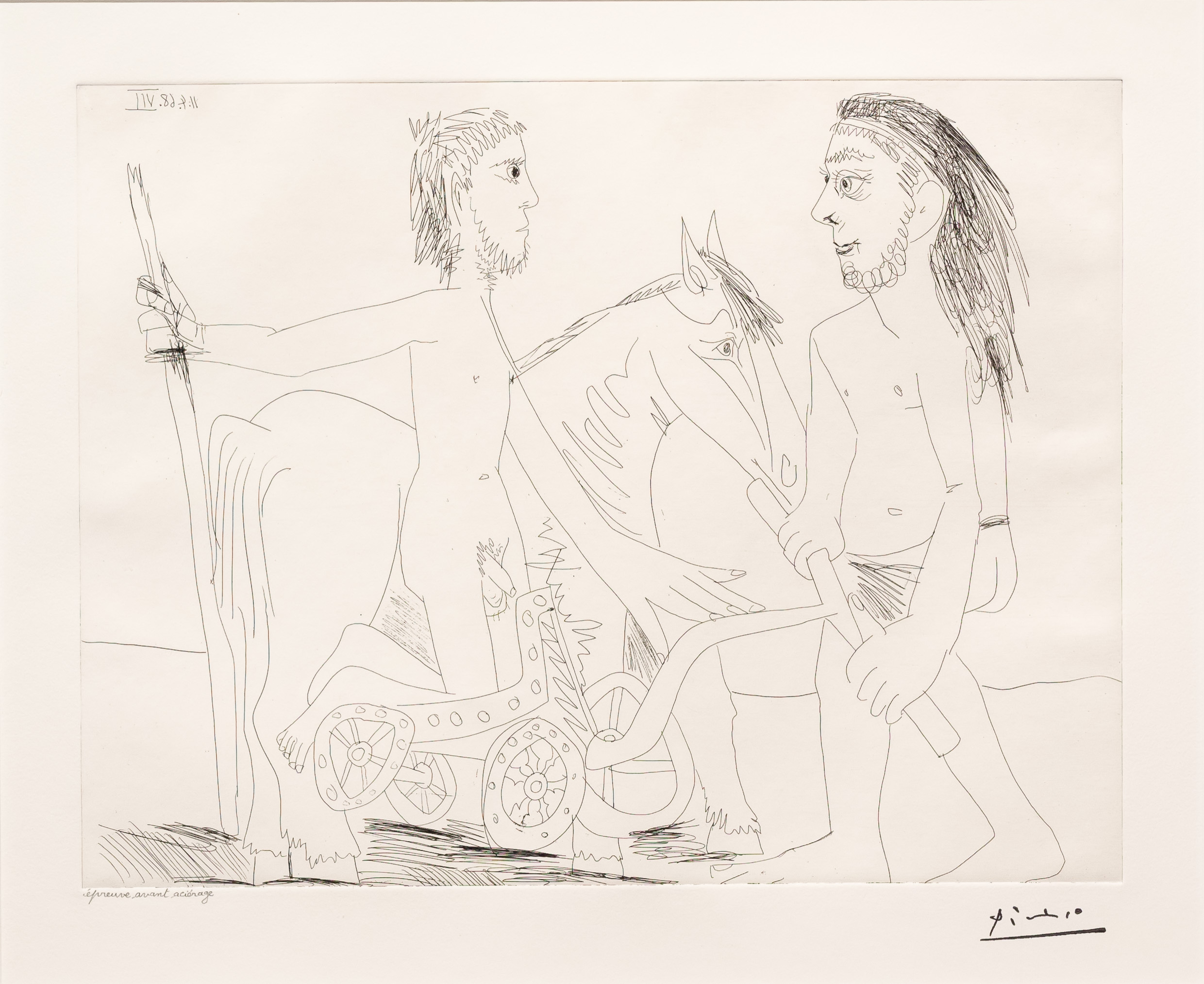 Television: Combat de Chars a l'Antique, from the 347 Series by Pablo Picasso